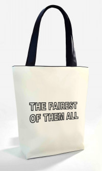 Сумка Shopper Bag №350, the fairest of them all, белая с черным