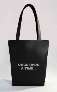 Сумка Shopper Bag №351, once upon a time..., чорна
