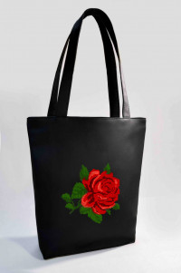 Сумка Shopper Bag №320, Роза, черная