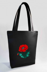 Сумка Shopper Bag №318, Мак, черный