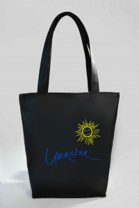 Сумка Shopper Bag №331, Ukraine, чорна