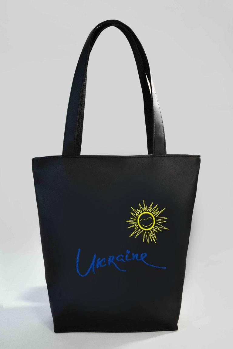 a8b6e6fb1aab Сумка Shopper Bag №331, Ukraine, черная. Цена, купить Сумка Shopper ...