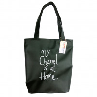 Сумка Shopper Bag №340, My chanel is at home, черная