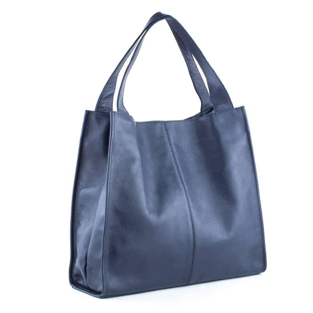 60c5d741d983 Кожаная сумка CITY 01, темно-синяя. Цена, купить Кожаная сумка CITY ...
