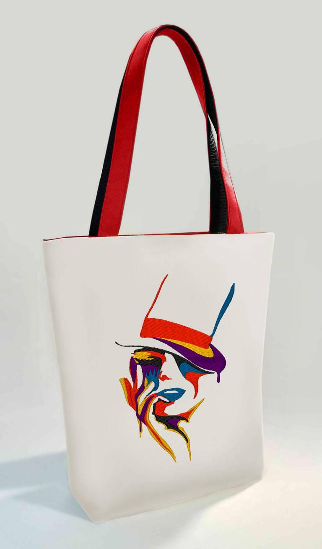 2a9853bca9e5 Сумка Shopper Bag №360, Яркая дама, белая с розовыми ручками. Цена ...