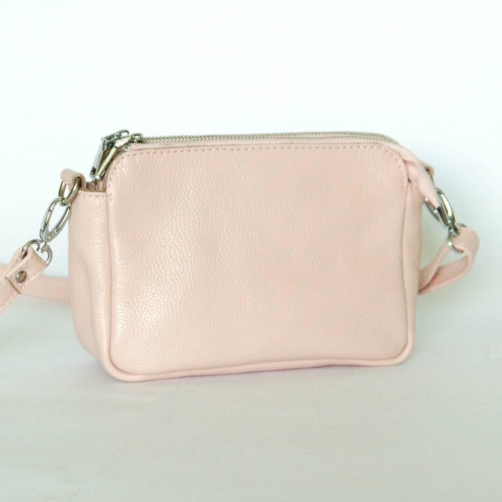 02ca639f5d45 Кожаная сумка Donna 02, пудра. Цена, купить Кожаная сумка Donna 02 ...