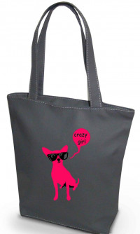 Сумка Shopper Bag №211, Crazy girl