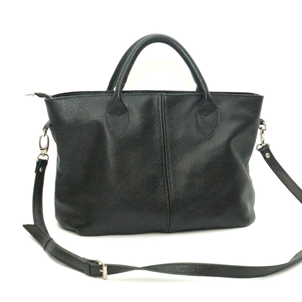 fbe121bd79db Кожаная сумка Malta 01, черная. Цена, купить Кожаная сумка Malta 01 ...
