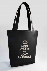 Сумка Shopper Bag №301, Keep calm, чорна