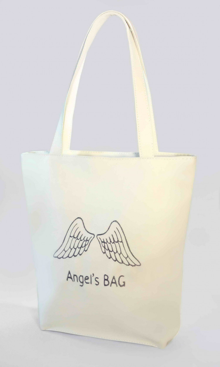 Сумка Shopper Bag №303, Angels bag, белая