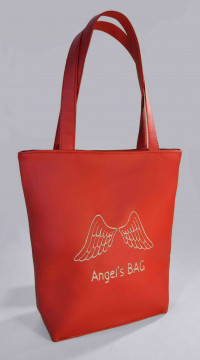 Сумка Shopper Bag №303, Angels bag, червона