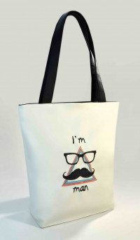 Сумка Shopper Bag №315, I'm a Man, белая