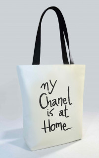 Сумка Shopper Bag №340, My chanel is at home, белая