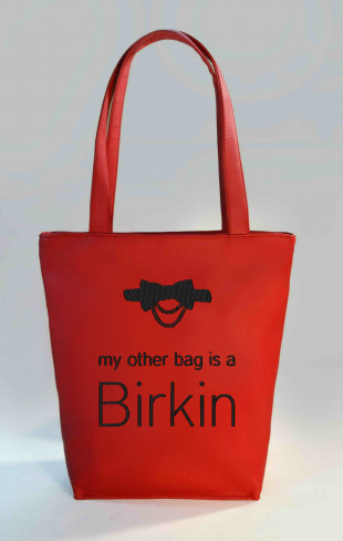 Сумка Shopper Bag №343, my other bag is a birkin, червона