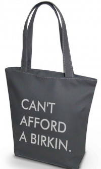 Сумка Shopper Bag №344, cant afford a birkin, сіра