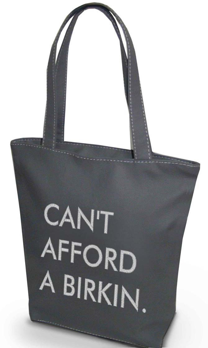 Сумка Shopper Bag №344, cant afford a birkin, серая
